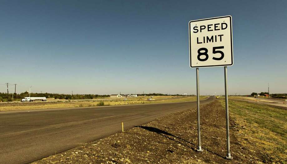 An 85 mph speed-limit sign is placed on the 41-mile-long, Texas 130 toll road in Austin, near the  crowded interstate between Austin and San Antonio. Photo: Associated Press / Statesman.com