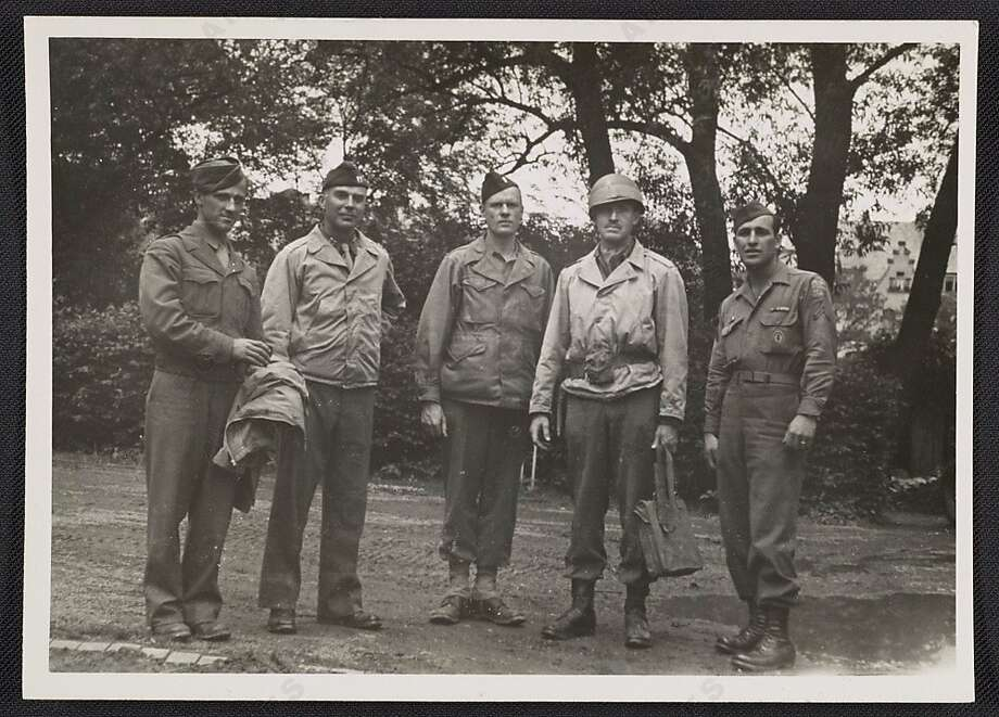 Walker Hancock (who inspired the character of Walter Garfield, played by John Goodman in 'Monuments Men') stands with Lamont Moore, George Stout and two unidentified soldiers in Marburg, Germany in June 1945.Keep clicking to see other actors who portrayed real people on screen.   Photo: Smithsonian Archives Of Ame. Art