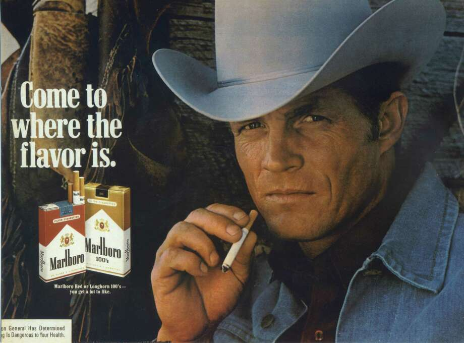Eric Lawson later appeared in an anti-smoking commercial.  Lawson, who portrayed the rugged Marlboro man in cigarette ads during the late 1970s, has died. He was 72. Lawson died Jan. 10, 2014, at his home in San Luis Obispo, Calif.,  of respiratory failure due to chronic obstructive pulmonary disease, or COPD, his wife, Susan Lawson said Sunday, Jan. 26, 2014. (AP Photo/Lawson Family) Photo: HONS / Lawson Family