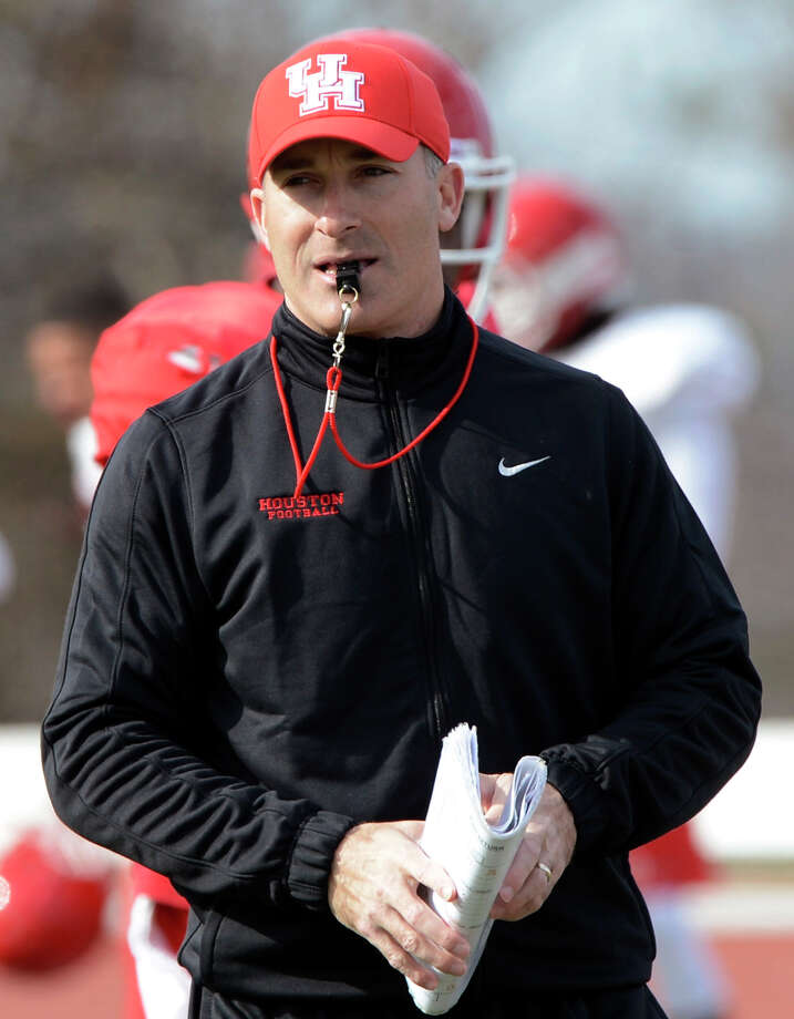 Houston coach Tony Levine signed a contract extension that includes a $125,000 annual pay raise. Photo: Mark Almond, MBR / AL.com