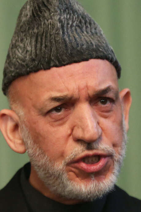 Afghan President Hamid Karzai suspects the United States is undermining his government. / AP