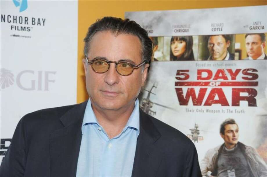 Andy Garcia, who is terrific in the upcoming movie, AT MIDDLETON.