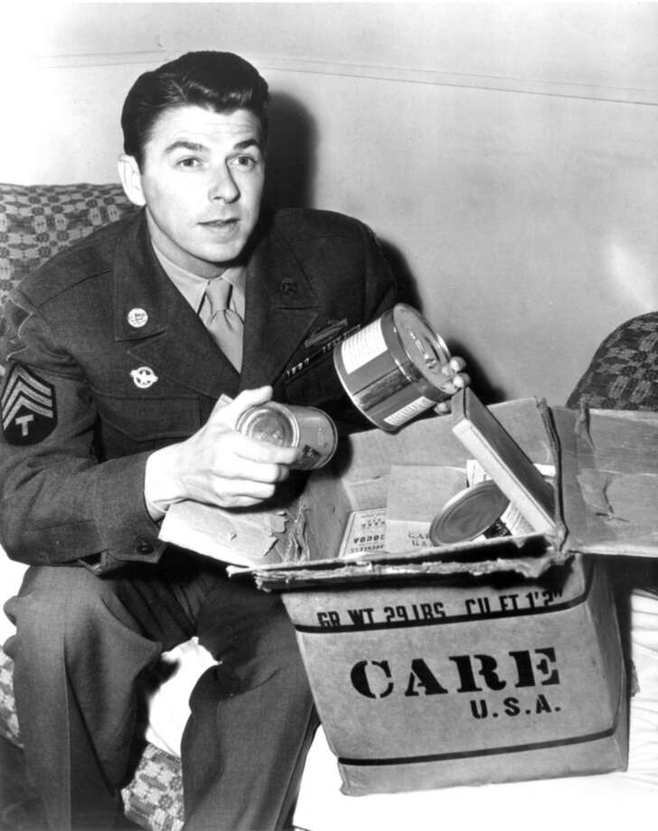 Ronald Reagan -- underrated as an actor, because conservatives don't want to think of him as an actor and liberals won't give him credit for anything.  The truth?  He was good -- and he wasn't a star of B-movies, either. He was a medium-sized star of A movies. Photo: William Dugan, CARE