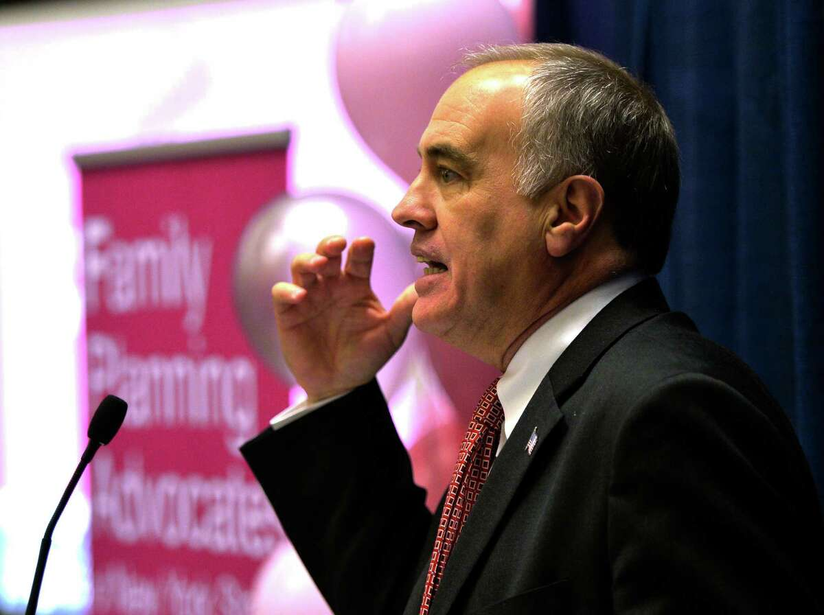 State Comptroller Thomas DiNapoli spoke to the Family Planning Advocates of New York State's Annual Day of Action Jan. 27, 2014, in the Legislative Office Building in Albany, N.Y. (Skip Dickstein / Times Union)