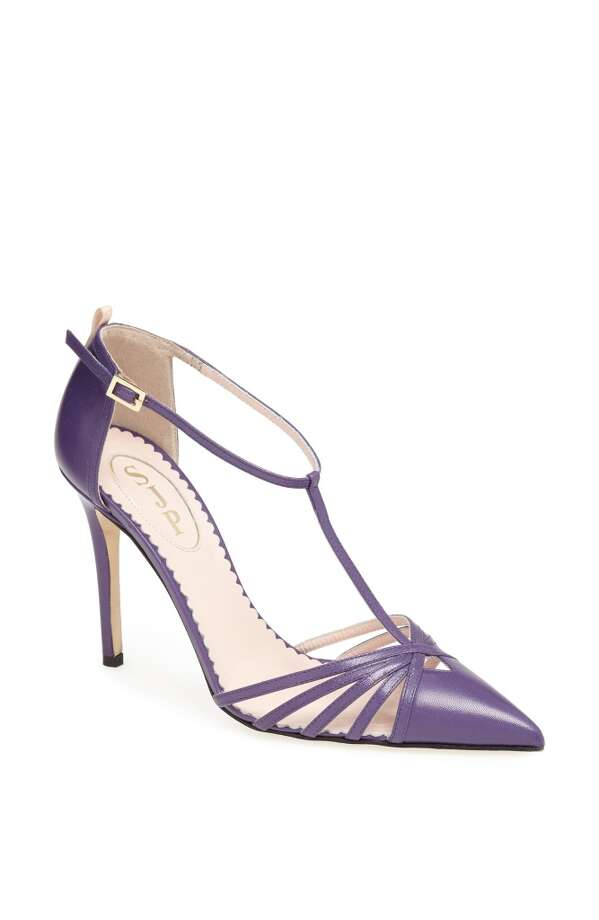 SJP Carrie pump, in purple. Photo: SJP Collection By Sarah Jessica Parker