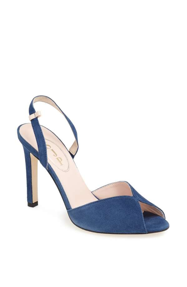 SJP Slim sandal in avio blue Photo: SJP Collection By Sarah Jessica Parker