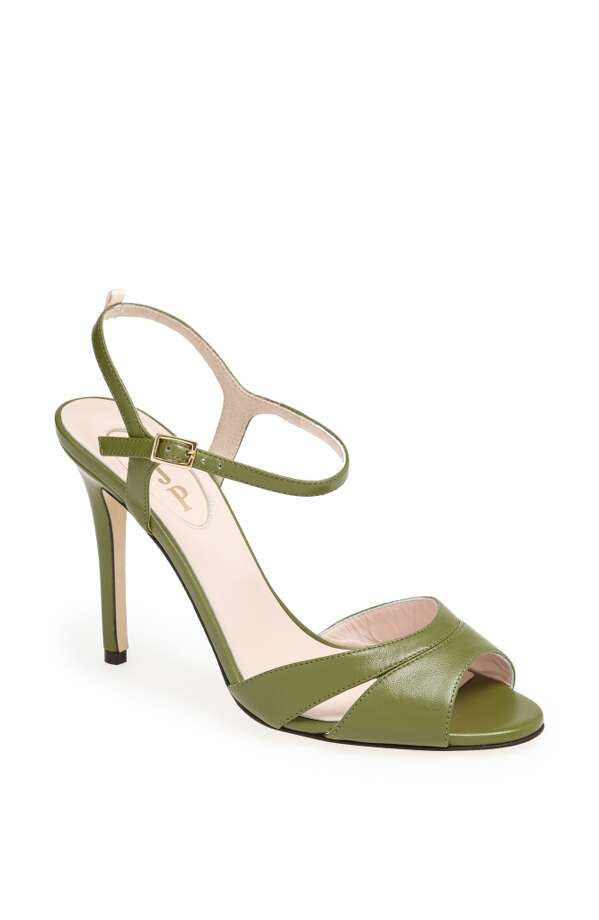 SJP Anna sandal in green Photo: SJP Collection By Sarah Jessica Parker