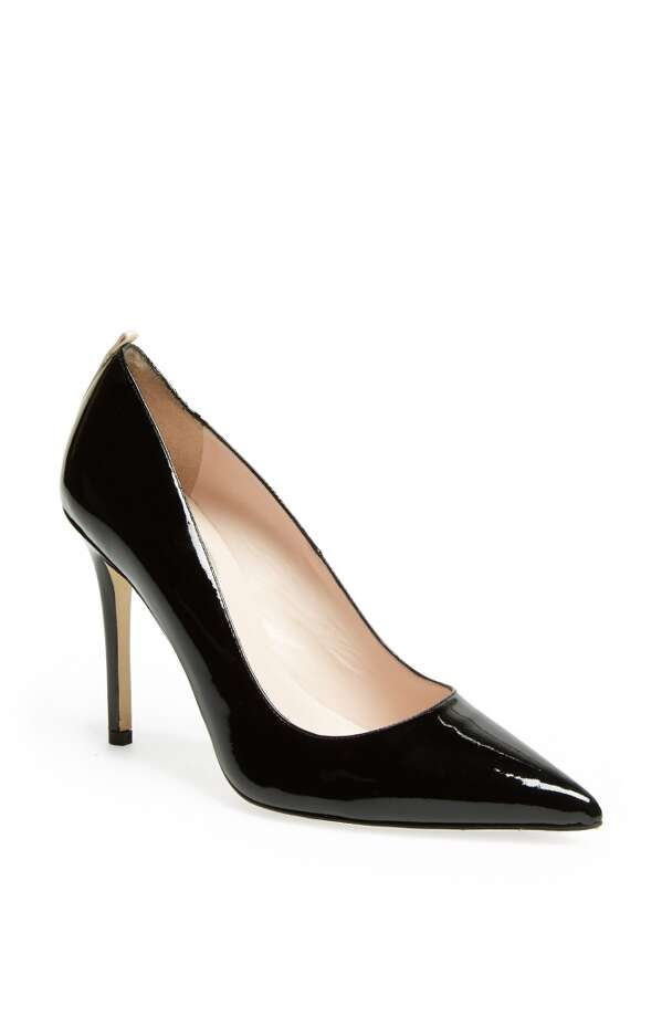 SJP Fawn pump in black patent Photo: SJP Collection By Sarah Jessica Parker
