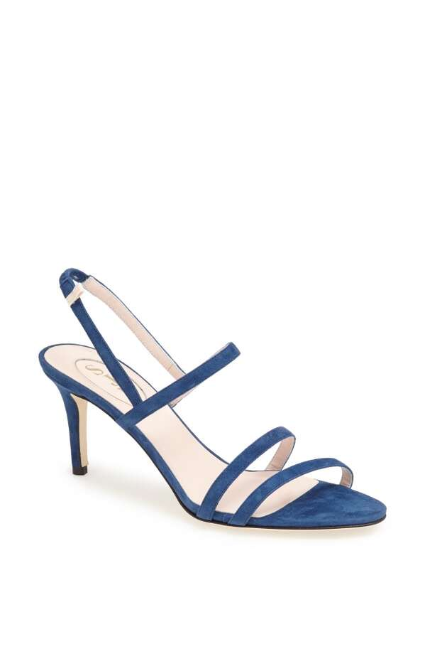SJP Iva sandal in avio blue Photo: SJP Collection By Sarah Jessica Parker
