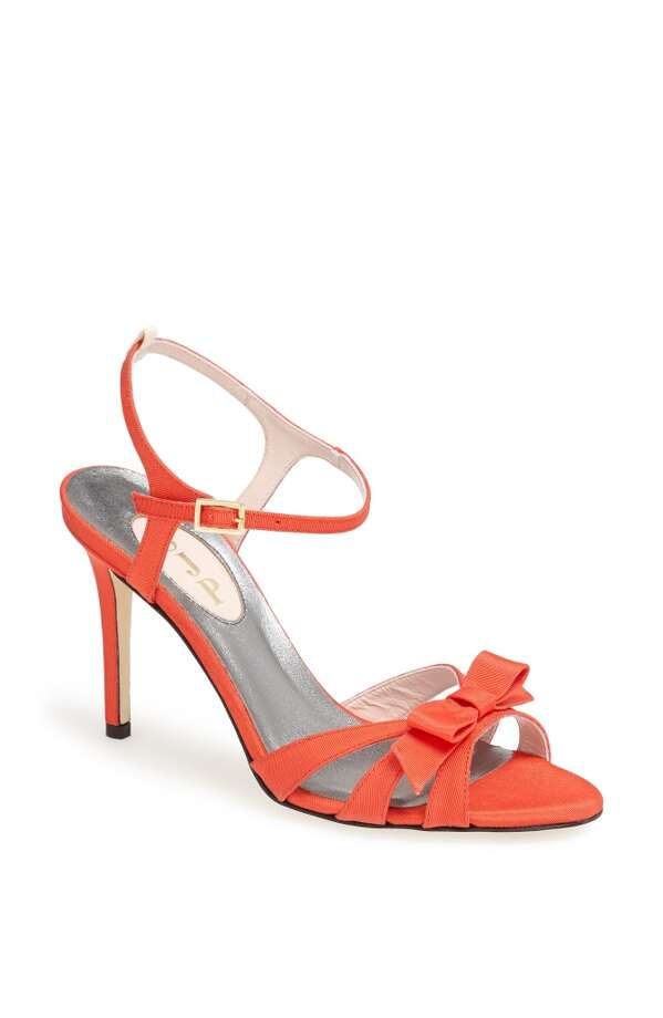 SJP Silvia sandal in coral Photo: SJP Collection By Sarah Jessica Parker