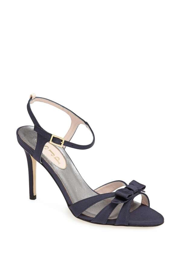 SJP Silvia sandal in navy Photo: SJP Collection By Sarah Jessica Parker