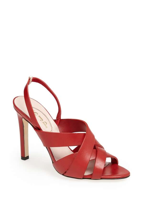 SJP Stella sandal in red Photo: SJP Collection By Sarah Jessica Parker