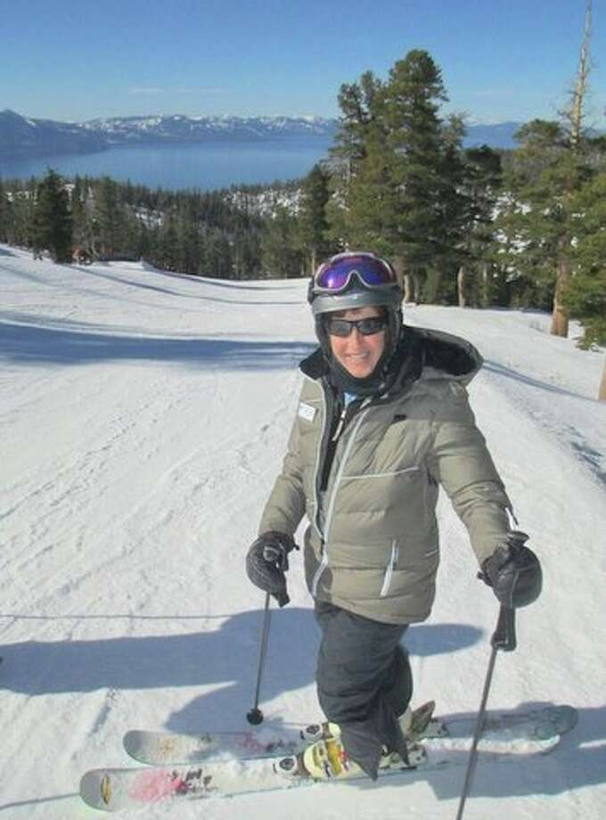 Ruthie on skis