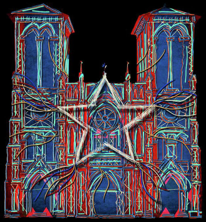 Preview of Xavier de Richemont's video projection on San Fernando Cathedral.