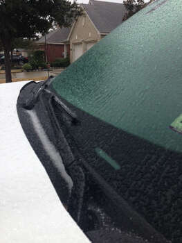 Sleet in Cypress (Photo by Bryan Kirk)