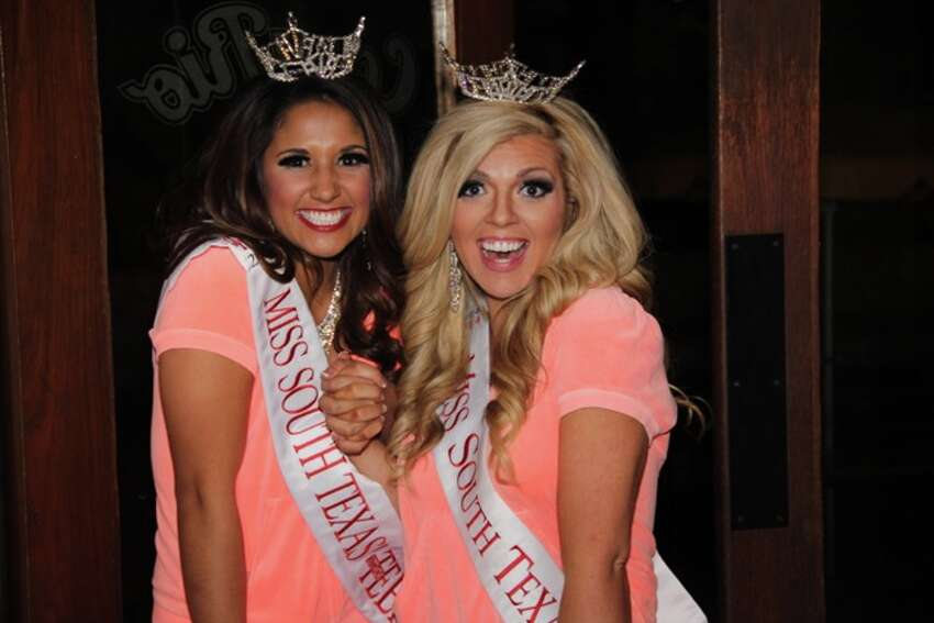 Teen and Miss South Texas relaxed and celebrating after the Pageant at Casa Rio!