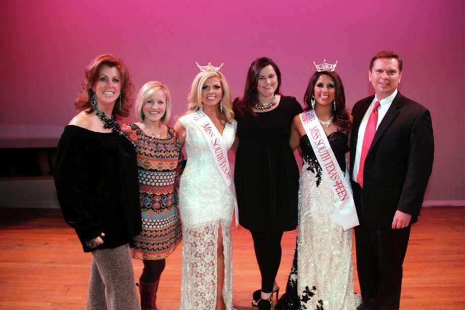 The new Miss & Teen South Texas with Leadership Team of South Texas Scholarship Organization as well as our new Talent  Coach, Dolores Park.  Dolores Park, Jennifer Cuda, Miss South Texas - Keli Kryfko, Leslie Lawrence Rogers Executive Director,  Teen South Texas Autumn-Rose Gregory and Griffin Rogers. Photo: Miss South Texas Scholarship Organization