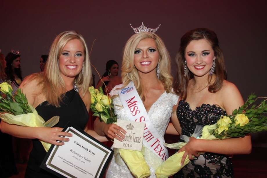 Miss South Texas 2014 - Keli Kryfko with 2nd Runner Up Jennifer Peter  and 1st Runner Up Khrista Bishop Photo: Miss South Texas Scholarship Organization
