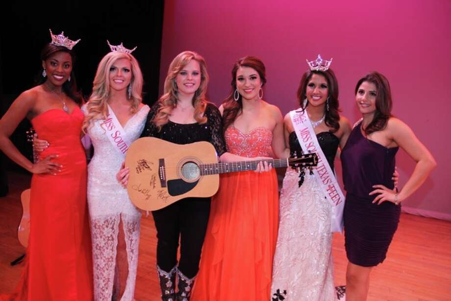 Miss Texas Ivana Hall with 2014 Miss South Texas and Holly Tucker (Top 6 of Season 4 of The Voice…she was our guest