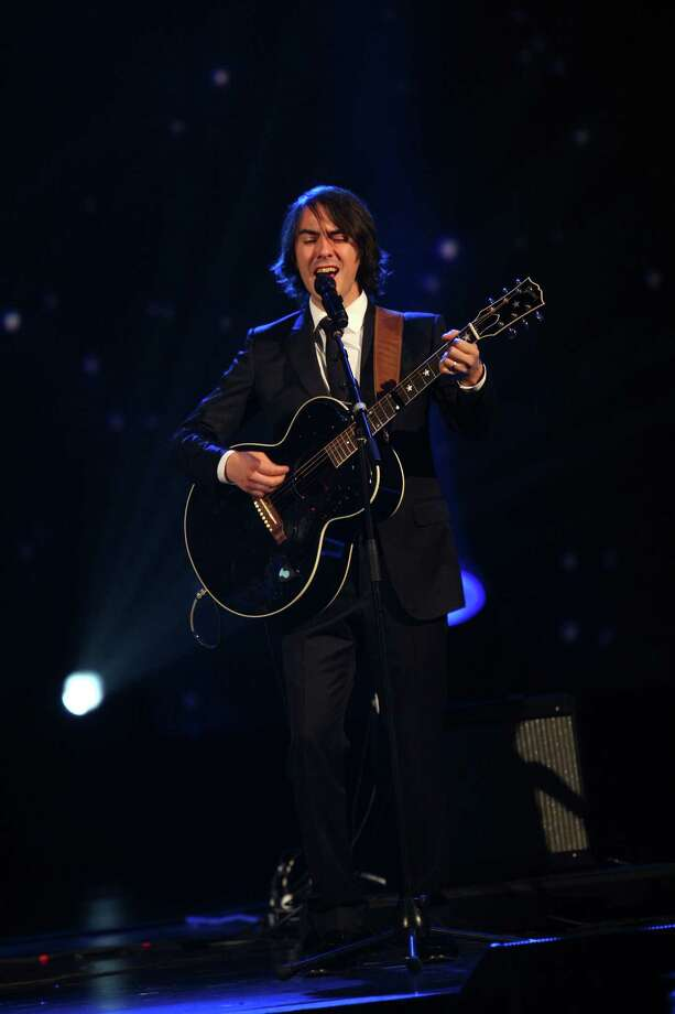 Dhani Harrison performs at The Night that Changed America: A Grammy Salute to the Beatles, on Monday, Jan. 27, 2014, in Los Angeles. (Photo by Zach Cordner/Invision/AP) ORG XMIT: CAZC155 Photo: Zach Cordner, AP / Invision