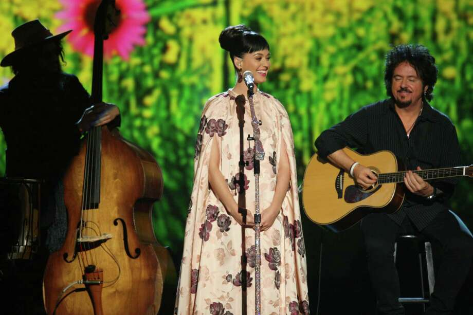 Katy Perry performs at the night that changed America: a Grammy salute to the Beatles, on Monday, Jan. 27, 2014, in Los Angeles. (Photo by Zach Cordner/Invision/AP) ORG XMIT: CABR103 Photo: Zach Cordner, AP / Invision