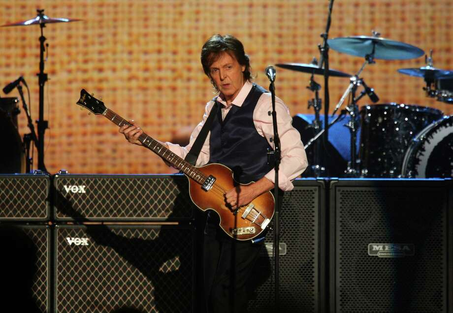 Paul McCartney performs at The Night that Changed America: A Grammy Salute to the Beatles, on Monday, Jan. 27, 2014, in Los Angeles. (Photo by Zach Cordner/Invision/AP) ORG XMIT: CAZC113 Photo: Zach Cordner, AP / Invision