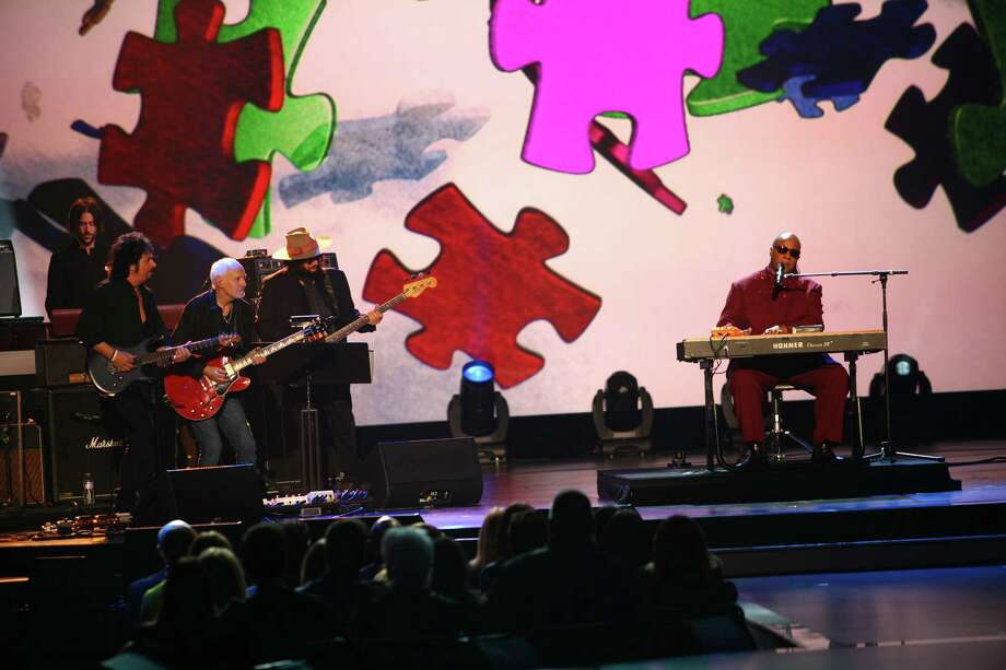 Stevie Wonder performs at The Night that Changed America: A Grammy Salute to the Beatles, on Monday, Jan. 27, 2014, in Los Angeles. (Photo by Zach Cordner/Invision/AP) ORG XMIT: CAZC130 Photo: Zach Cordner, AP / Invision