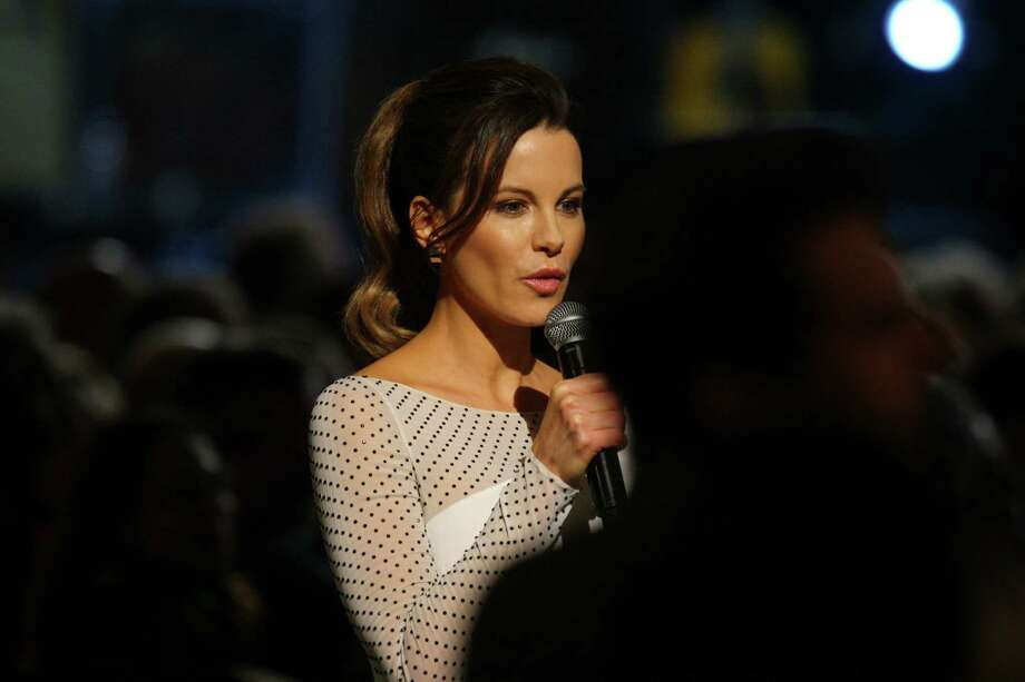 Kate Beckinsale introduces performers at The Night that Changed America: A Grammy Salute to the Beatles, on Monday, Jan. 27, 2014, in Los Angeles. (Photo by Zach Cordner/Invision/AP) ORG XMIT: CAZC148 Photo: Zach Cordner, AP / Invision
