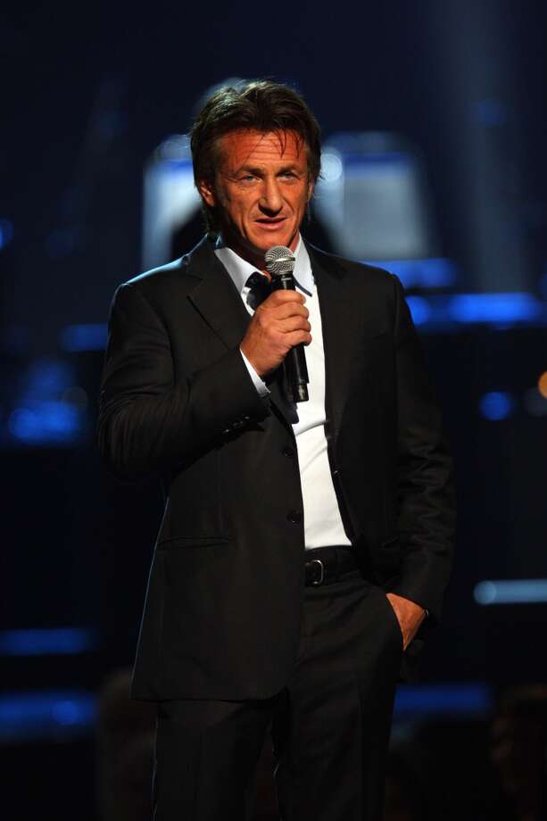Sean Penn introduces Paul McCartney at The Night That Changed America: A Grammy Salute to the Beatles, on Monday, Jan. 27, 2014, in Los Angeles. Photo: Zach Cordner, Associated Press