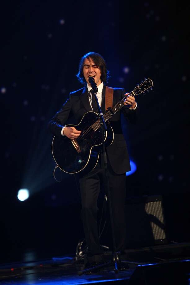 Dhani Harrison performs at The Night that Changed America: A Grammy Salute to the Beatles, on Monday, Jan. 27, 2014, in Los Angeles. Photo: Zach Cordner, Associated Press