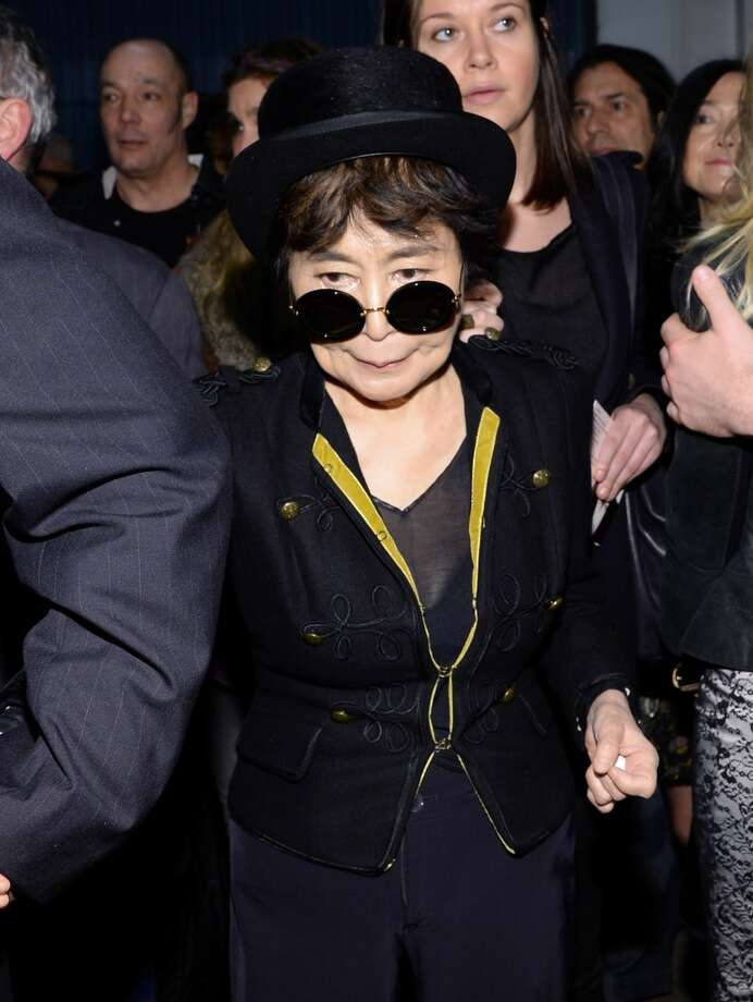 "Yoko Ono attends ""The Night That Changed America: A GRAMMY Salute To The Beatles"" at the Los Angeles Convention Center on January 27, 2014 in Los Angeles, California. Photo: Larry Busacca, Getty Images For NARAS"