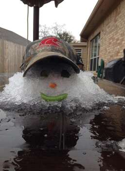 An ice man in Tomball. (Photo by Bryan Kirk)