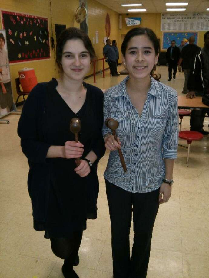 Westside High School students, from left, Molly Wu and Andrea Dimijian who recently won Best Best Speaker for their divisions in a recent Houston Urban Debate League event. Photo: Courtesy Of Westside High Shool