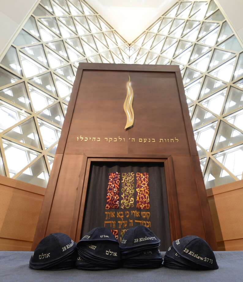 View in the new synagogue of the israelite religion association Wuerttemberg ahead of the opening ceremony on Dec. 2, 2012, in the southern German city Ulm. Photo: CHRISTOF STACHE, AFP/Getty Images