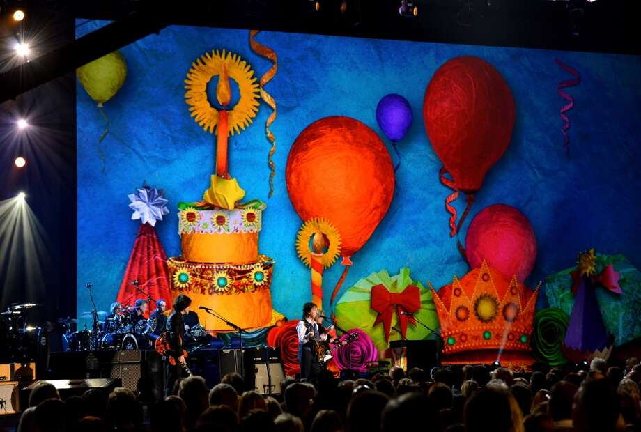 "The finale performance onstage during ""The Night That Changed America: A GRAMMY Salute To The Beatles"" at the Los Angeles Convention Center on January 27, 2014 in Los Angeles, California. Photo: Larry Busacca, Getty Images For NARAS"