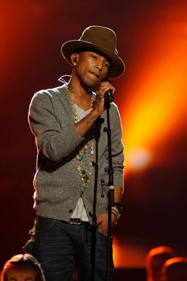 Pharrell Williams performs at The Night that Changed America: A Grammy Salute to the Beatles, on Monday, Jan. 27, 2014, in Los Angeles. Photo: Zach Cordner, Associated Press
