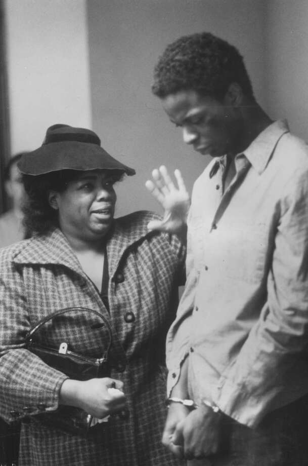 Oprah Winfrey plays a dramatic role with actor Victor Lane, 1985. Photo: Afro Newspaper/Gado, Getty Images