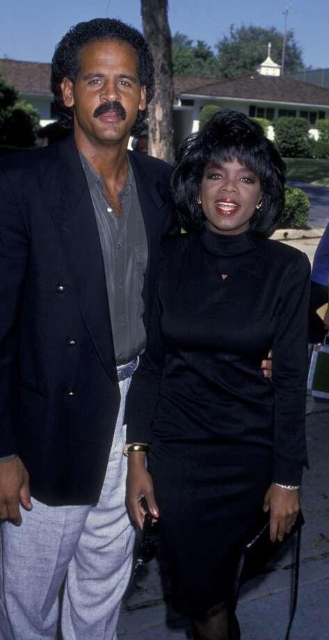 With Steadman Graham in 1989. Photo: Ron Galella, Ltd., WireImage