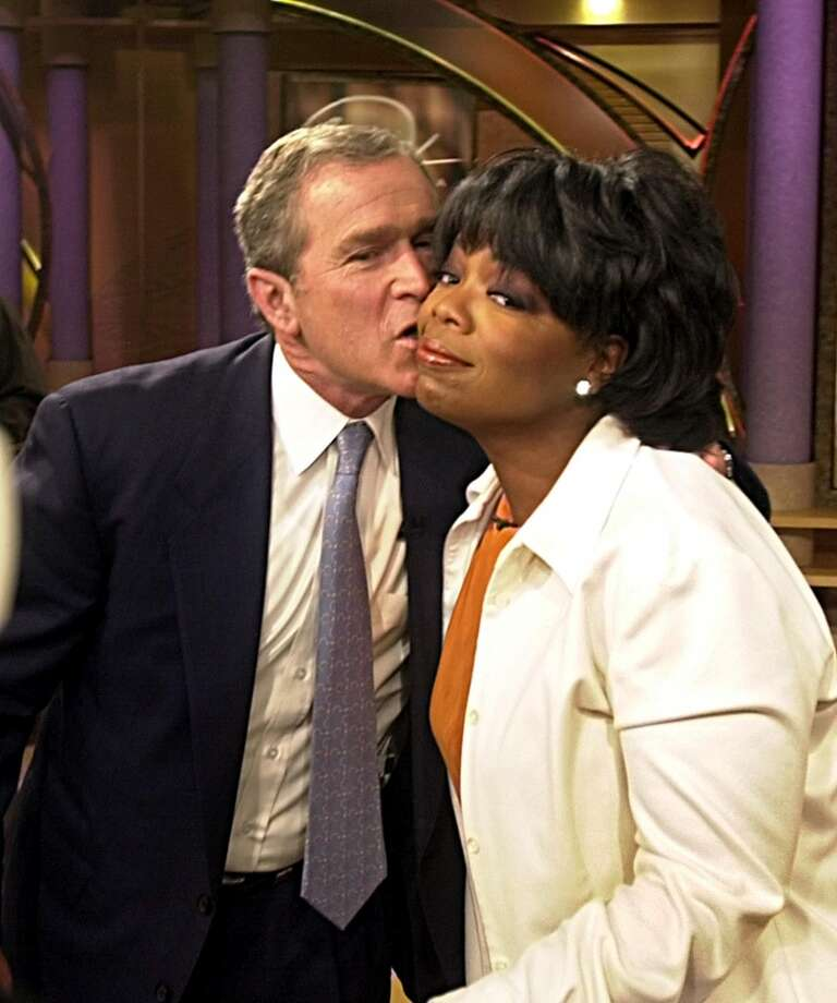 George W. Bush appears on Winfrey's show in 2000. Photo: TANNEN MAURY, AFP/Getty Images