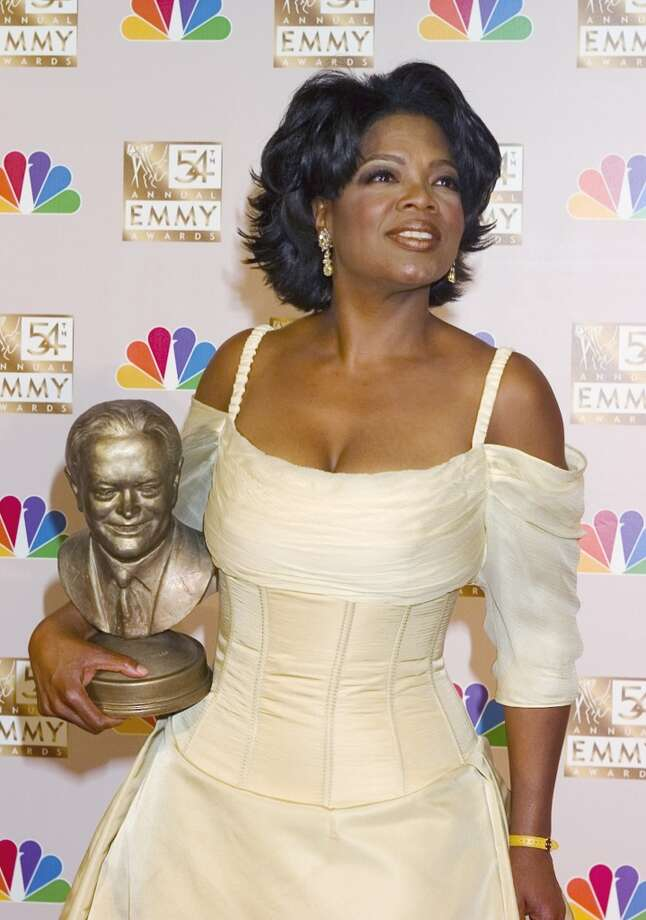 Bob Hope Humanitarian Award winner Oprah Winfrey at the Primetime Emmy Awards in 2001. Photo: NBC, NBC Via Getty Images