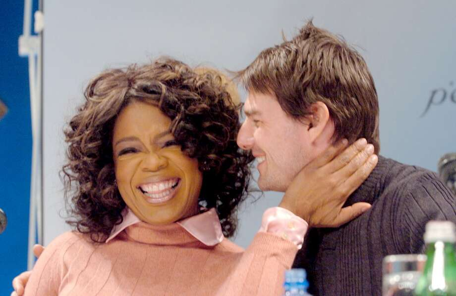 With Tom Cruise in 2004. Photo: Jon Furniss, WireImage