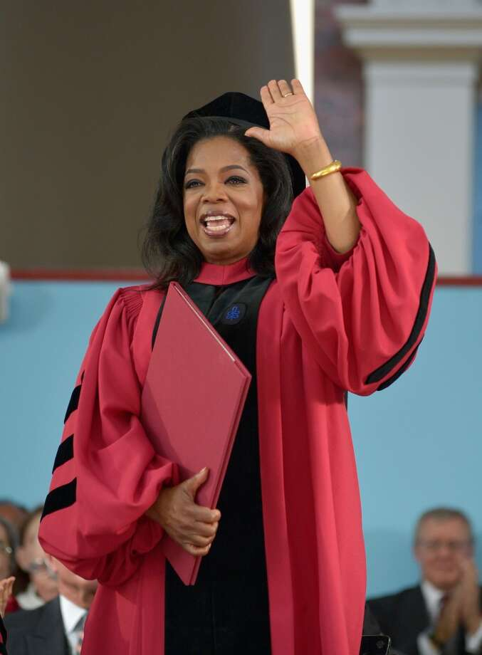 Oprah Winfrey receives an Honorary Doctor of Laws Degree at Harvard University in 2013. Photo: Paul Marotta, Getty Images