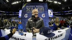 Seattle Seahawks head coach Pete Carroll smiles during media day for the NFL Super Bowl XLVIII football game Tuesday, Jan. 28, 2014, in Newark, N.J. (AP Photo/Matt Slocum)