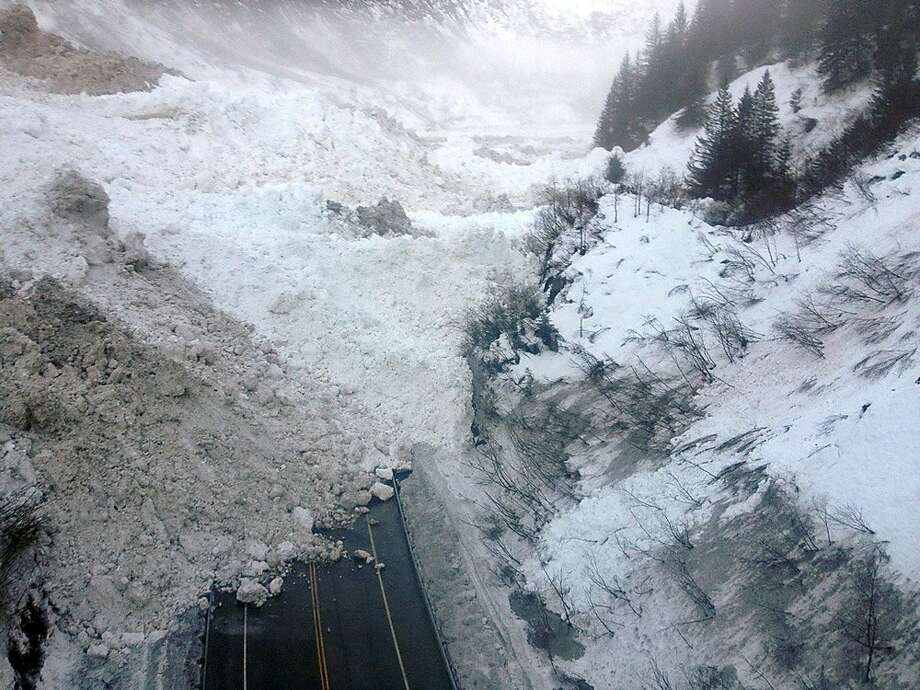 Valdez stranded:Multiple avalanches block the Richardson Highway in the Thompson Pass region of Valdez, Alaska. Alaska officials 