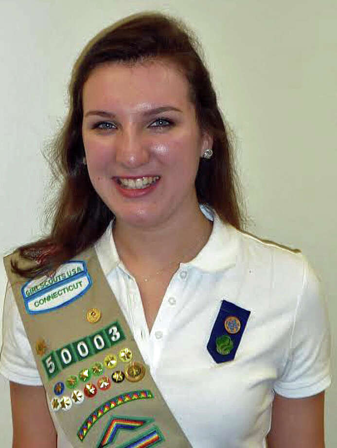 Kate FitzMaurice, of Darien Girl Scout Troop 50003, earned Girl Scout Gold Award. Photo: Contributed Photo, Contributed / Darien News