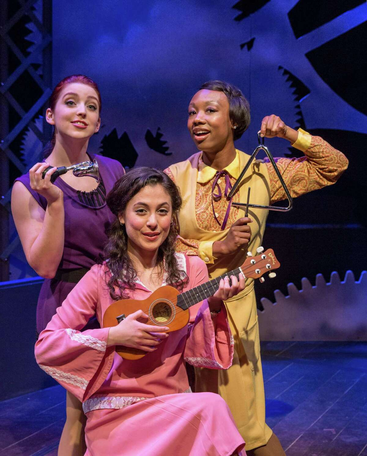 """Brittany Halen, from left, Nina L. Garcia and Courtney D. Jones star in Stages Reperatory Theatre's production of """"Failure: A Love Story."""""""