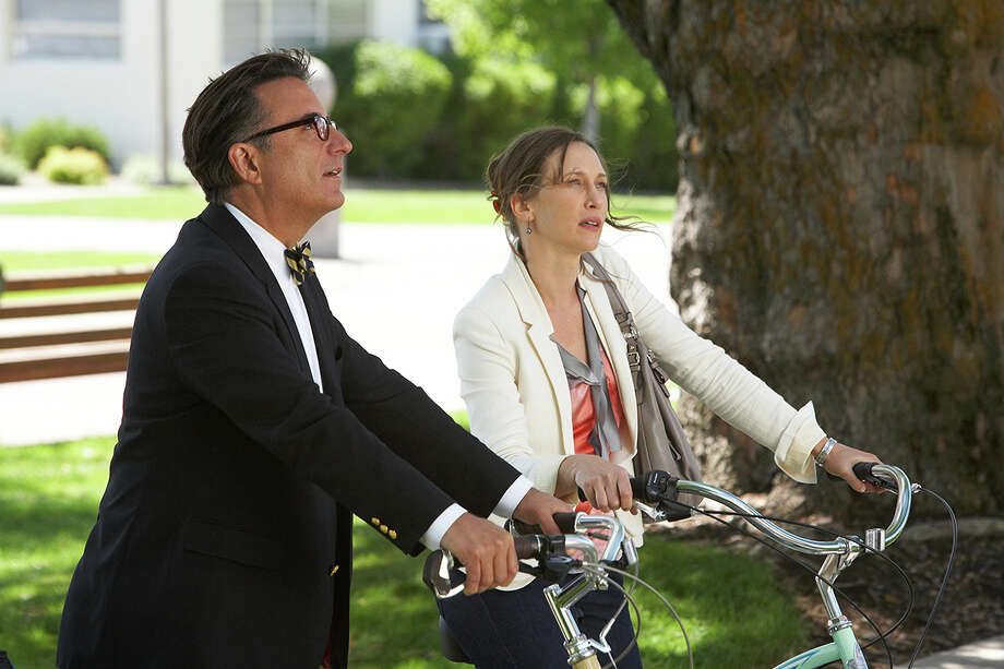 "Andy Garcia and Vera Farmiga star in ""At Middleton,"" about two people who fall in love while taking their kids on a college tour. Photo: Anchor Bay Films / ONLINE_YES"