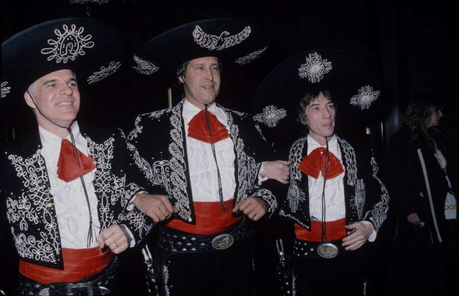 UNITED STATES - 9th December 1986: American actors Steve Martin, Chevy Chase and Martin Short in costume for the premiere of their film 'The Three Amigos'. (Photo by Time & Life Pictures/Getty Images) Photo: Time & Life Pictures, Time Life Pictures/Getty Images / Time & Life Pictures