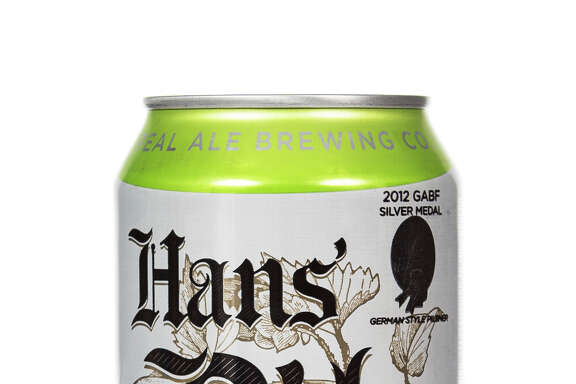 New Hans Pils cans from Real Ale Brewing.