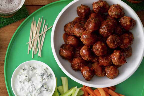 Buffalo-Buffalo Meatballs make for perfect bite-size Super Bowl treats.